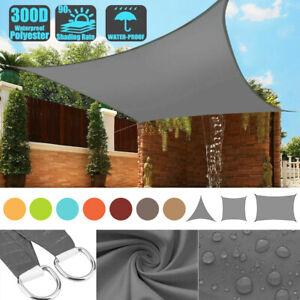 Outdoor Sun Shade Sail Canopy Rectangle Sand Uv Block Sunshade For Backyard Deck