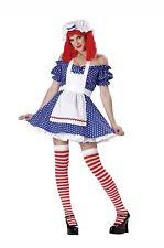 Racy Rag Doll Costume Adult Raggedy Ann Halloween Fancy Dress USED SMALL w/ WIG
