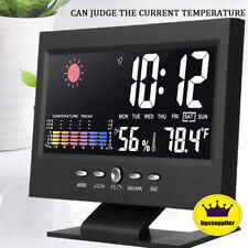 Led Digital Alarm Clock Snooze Calendar Thermometer Hygrometer Weather Display