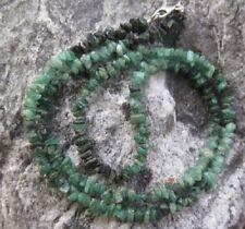 Smaragd Splitter Halskette mit 925 Silberverschluß -Sonderangebot