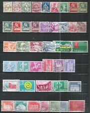 SUISSE 5 PAGES DE TIMBRES DIFFERENTS   FORTE COTE    A SAISIR
