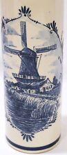 Lovely ROYAL DELFT BLUE BOLS BOTTLE windmill motif Handwerk Holland 27DM 75/2G