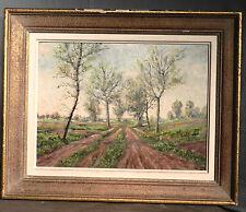 Vintage Modern Paul Bager Barbizon Landscape Oil Painting Trees Impressionist