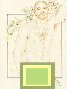 """Male Nude Gay Interest """"Ripe Avocado"""" Original, NOT a copy by Mario Bieletto"""