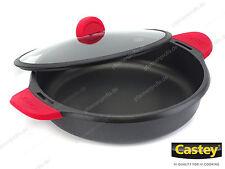 CASTEY Schmorkasserolle CLASSIC 32 cm Servierpfanne Silikon-Griffe Induktion