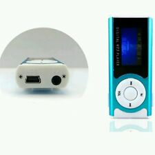 Portable Blue Shiny Mini USB Clip LCD Screen MP3 Media Player