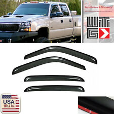 For 01-07 Chevy Silverado GMC Sierra Crew Cab Window Deflector Visor Vent Guard