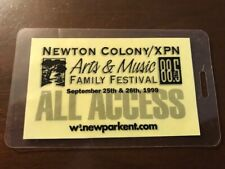 Newton Colony/Wxpn 88.5 Arts & Music Family Festival 1999 Laminate Aa pass