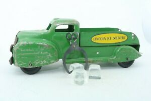 Lincoln Toy Ice Delivery Truck - Made in Canada - pressed steel