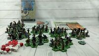 Large Lot LOTR Combat Hex 80 Miniatures Dice Maps Lord Of The Rings