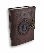 Embossed Leather Bound Paper Blank Journal Notebook Diary Blue 120 Page