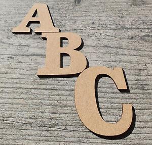 Bold Wooden Large Letters Clarendon 3-30cm (3mm Depth MDF) Arts Craft Deco Toy