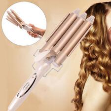 Triple 3 Barrel Ceramic Hair Curler Waver Styler Crimper Deep Wave Curling Irons