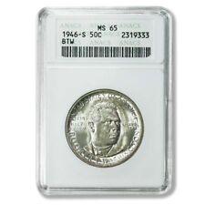 USA Booker T. Washington Commemorative Half Dollar 1946S Anacs MS65