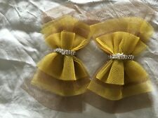 Hawks Brown and GoldTulle bows dance Party Football