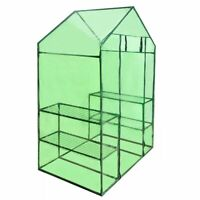 4 Shelves Greenhouse Portable Mini Walk In Outdoor Garden Green House 2 Tier