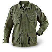 Official U.S. Military Issue Vietnam Era OD Slant Jungle BDU Fatigue Shirt OG107