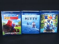 3 New Blue Ray & Reg. DVDs Freebirds, The Secret Life of Walter Mitty, Rio 2 Lot