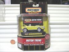 Matchbox Collectibles Motor Trend 1957 Yellow Chevy Bel Air Convertible Car NIB