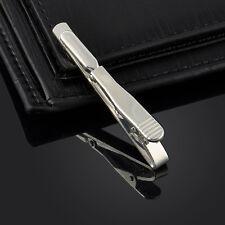 Mens Necktie Tie Copper Bar Clip Clasp Simple Style Cufflinks Set Gift Silver