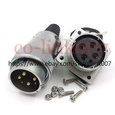 WS32 6pin Power Connector,Aviation Bulkhead Plug Socket LED Plug