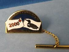 ONTARIO FEDERATION OF ANGLERS & HUNTERS 200 TIE PIN FISH HUNT COLLECTOR BUTTON
