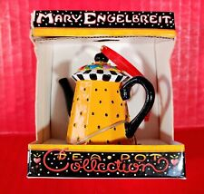 New Mary Engelbreit Polka Dot Teapot Collection Ornament Nib