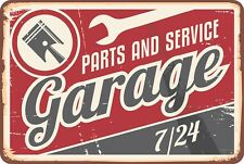 Retro Parts and Service Garage Beer Bar Pub Home Decor Aluminum Vintage Sign
