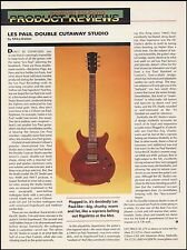 The Gibson Les Paul DC Double Cutaway Studio guitar 8 x 11 sound check review