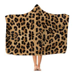 Leopard Print - Hooded Blanket