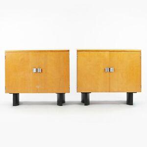1948 Pair of Two-Door Cabinets by Eliel Saarinen & Swanson Johnson Furniture Co