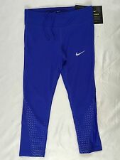 NIKE Power Women Capri Leggings Pants Dri-Fit 452 Blue 883061 Size XS