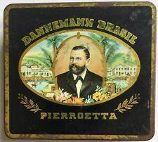 Vintage Dannemann Brazil Pierroetta Cigarettes Tin Box Cigar Case