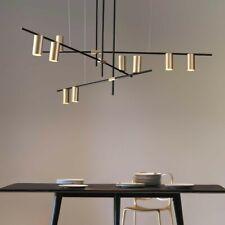 Modern Gold Cylinder Adjustable Black Branch 9-Light Pendant Light Ceiling Lamp