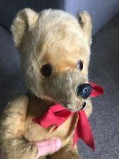 "Adorable Antique Golden  Mohair Jointed 12"" Teddy Bear Fully Jointed CUTE LOOK !"