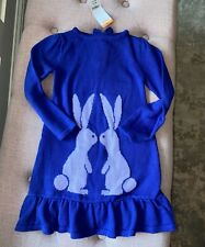 Gymboree Bunny Rabbit Purple Sweater Dress NEW Size 4T