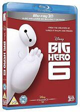Big Hero 6 3D [Blu-ray 3D + Blu-ray, Disney Movie, Region Free, 2-Disc] NEW