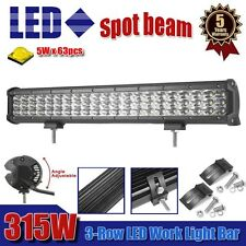 "Tri-Row 20"" Inch 315W LED Work Light Bar Spot Truck SUV 4WD OFFROAD Driving CAO"