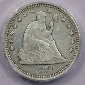 1877-CC 1877 Seated Liberty Quarter ICG VF20