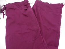 Barco Nrg Medical Scrub Pant Wine 3207 New With Tag Xl