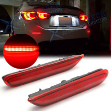 For Infiniti Q50 QX Nissan Red LED Bumper Brake Lights w/ Sequential Turn Signal