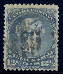 Canada 1868, 28a blue 12 1/2c large queen, Bothwell wmk (E), Scott catalog $425