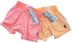 BONDS Baby Girls Shorts Pants Twin Pack Set Summer Woven Pink Orange Sz 000 NEW