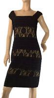🌻DANIELAS DESIGNER SIZE 12 BLACK TIERED SPECIAL OCCASION DRESS BNWT