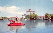 CO, Colorado Springs  BROADMOOR HOTEL-Bathing Beauty-Paddle Boat   1957 Postcard