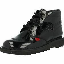 Kickers Kick Hi Black Patent Adult Ankle Boots