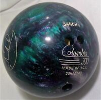 Columbia 300 WD purple blue sparkle sandra Bowling ball 10 pounds sport bowl O30