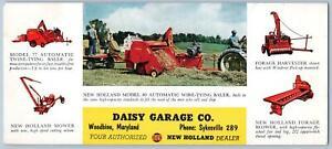 DAISY GARAGE CO WOODBINE MARYLAND*MD*NEW HOLLAND FARM EQUIP*VINTAGE INK BLOTTER