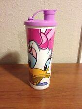 Tupperware Disney Daisy  Duck Tumbler w/ flip top seal 16oz NEW