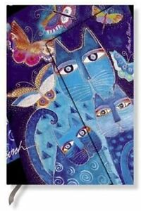 Paperblanks Fantastic Felines Blue Cats and Butterflies Midi Wrap Journal